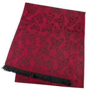 ヴィヴィアンウエストウッド Vivienne Westwood マフラー 54909032-24S32-P80 101 BORDEAUX|ginzahappiness