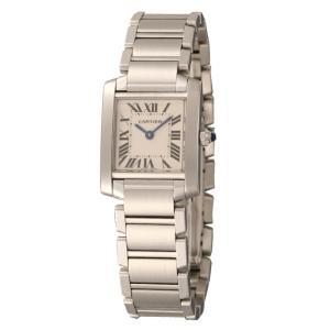 カルティエ Cartier 腕時計 タンクフランセーズ W51008Q3 ホワイト|ginzahappiness