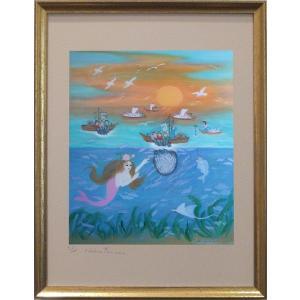 大漁(ポスター額付き)|ginzahisa