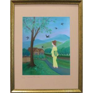 燕の母さん(ポスター額付き)|ginzahisa