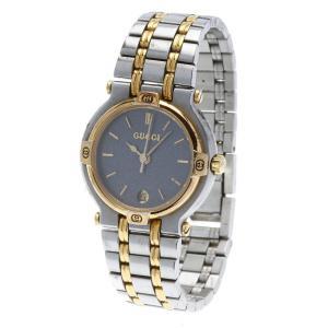 グッチ 9000L シルバー メタル 腕時計 レディース GUCCI クオーツ グレー文字盤文字盤 ...