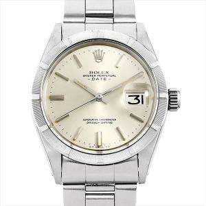 ロレックス オイスターパーペチュアル デイト 14番 1501 シルバー/バー アンティーク メンズ 腕時計