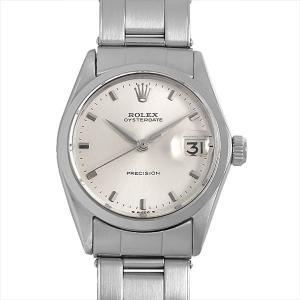 48回払いまで無金利 ロレックス オイスターデイト 6466 シルバー/バー 16番 アンティーク メンズ 腕時計|ginzarasin