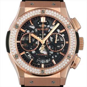 ウブロ クラシック フュージョン アエロ クロノグラフ キングゴールド ダイヤモンド 525.OX.0180.LR.1104 新品 メンズ 腕時計|ginzarasin