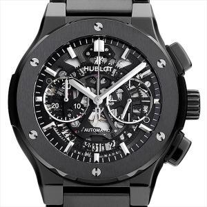 48回払いまで無金利 ウブロ アエロフュージョン クロノグラフ ブラックマジック ブレスレット 528.CM.0170.CM 新品 メンズ 腕時計|ginzarasin