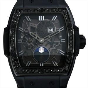 ウブロ スピリット オブ ビッグバン ムーンフェイズ オールブラック ダイヤモンド 647.CI.1110.LR.1200 新品 メンズ 腕時計|ginzarasin