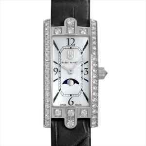 48回払いまで無金利 ハリーウィンストン アヴェニューC ミニ ムーンフェイズ AVCQMP16WW001 新品 レディース 腕時計|ginzarasin