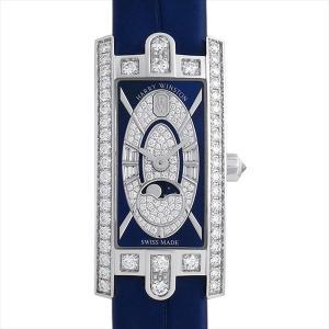 48回払いまで無金利 ハリーウィンストン アヴェニューC ミニ ムーンフェイズ AVCQMP16WW004 新品 レディース 腕時計|ginzarasin