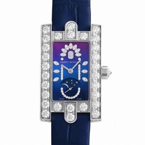 48回払いまで無金利 ハリーウィンストン アヴェニュークラシック ムーンフェイズ 20thアニバーサリー AVEQMP21WW002 新品 レディース 腕時計|ginzarasin