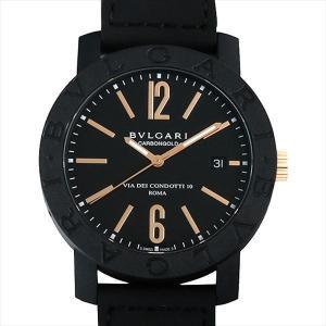 60回払いまで無金利 ブルガリ ブルガリブルガリ カーボンゴールド BBP40BCGLD/N ブラック 新品 メンズ 腕時計|ginzarasin
