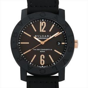 60回払いまで無金利 ブルガリ ブルガリブルガリ カーボンゴールド BBP40C11CGLD ブラウン 新品 メンズ 腕時計|ginzarasin