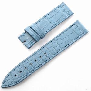 RASINオリジナル フランクミュラー ロングアイランド 尾錠用革ベルト クロコ 裏ラバー 艶消し 水色/ライトブルー 16mm-16mm FMLIAB1616 新品 腕時計 ストラップ|ginzarasin