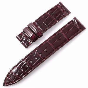 RASINオリジナル フランクミュラー ロングアイランド 尾錠用革ベルト クロコダイル 裏ラバー 艶有り ボルドー 16mm-16mm FMLIAB1616 新品 腕時計 ストラップ|ginzarasin