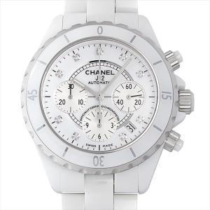 48回払いまで無金利 シャネル J12 白セラミック クロノグラフ 9Pダイヤ H2009 新品 メンズ 腕時計|ginzarasin