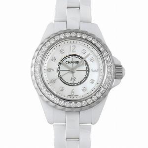 48回払いまで無金利 シャネル J12 8Pダイヤ ベゼルダイヤ H2572 新品 レディース 腕時計|ginzarasin