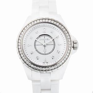48回払いまで無金利 シャネル J12 白セラミック 8Pダイヤ ダイヤベゼル H3110 新品 レディース 腕時計|ginzarasin