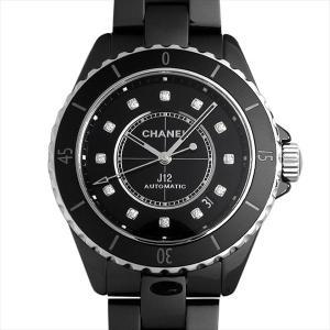 60回払いまで無金利 シャネル J12 黒セラミック 12Pダイヤ H5702 新品 メンズ 腕時計