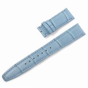 RASINオリジナル IWC ポルトギーゼ Dバックル用革ベルト クロコダイル 裏ラバー 艶消し 水色/ライトブルー 20mm-18mm IWPGDB2018 新品 腕時計 ストラップ|ginzarasin