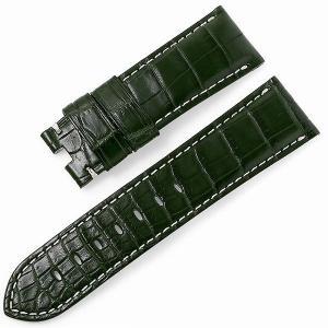 RASINオリジナル パネライ ルミノール Dバックル用革ベルト クロコ 裏ラバーコーティング 艶消し 緑/グリーン 24mm-22mm OPLNDB2422 新品 腕時計 ストラップ|ginzarasin