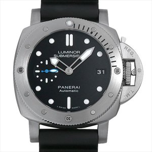 48回払いまで無金利 48回払いまで無金利 パネライ ルミノール サブマーシブル 1950 3デイズ オートマティック アッチャイオ PAM00682 U番 新品 メンズ 腕時計|ginzarasin