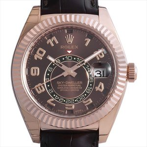 48回払いまで無金利 ロレックス スカイドゥエラー 326135 ブラウン 未使用 メンズ 腕時計|ginzarasin