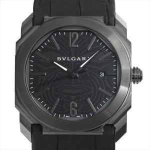 48回払いまで無金利 SALE ブルガリ オクト オールブラックス 記念モデル BGO41BSBLD/AB 未使用 メンズ 腕時計|ginzarasin