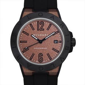 48回払いまで無金利 ブルガリ ディアゴノ マグネシウム ブラウンラッカー DG41C11SMCVD 未使用 メンズ 腕時計|ginzarasin