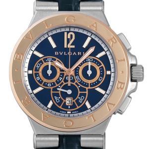 60回払いまで無金利 SALE ブルガリ ディアゴノ カリブロ303 クロノグラフ DG42C3SPGLDCH 未使用 メンズ 腕時計|ginzarasin