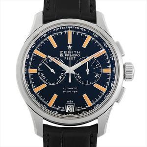 48回払いまで無金利 ゼニス エルプリメロ パイロット クロノグラフ 日本限定モデル 03.2119.4002/24.C719 中古 メンズ 腕時計 ginzarasin