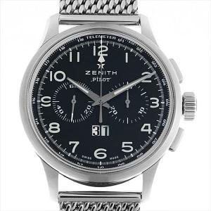 ゼニス パイロット クロノグラフ ビッグデイト スペシャル 03.2410.4010/21.M2410 中古 メンズ 腕時計|ginzarasin
