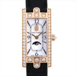 最大2万円OFFクーポン配布 ハリーウィンストン アヴェニューC ミニ ムーンフェイズ AVCQMP16RR001 中古 レディース 腕時計 48回払いまで無金利|ginzarasin