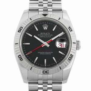 48回払いまで無金利 ロレックス デイトジャスト ターノグラフ 116264 グレー/5列/ジュビリーブレス D番 中古 メンズ 腕時計|ginzarasin