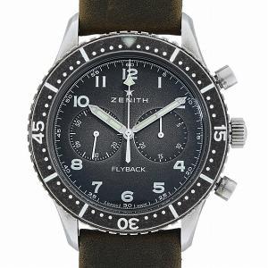 48回払いまで無金利 ゼニス パイロットクロノメトロ TIPO-CP2 フライバック 11.2240.405/21.C773 中古 メンズ 腕時計 ginzarasin