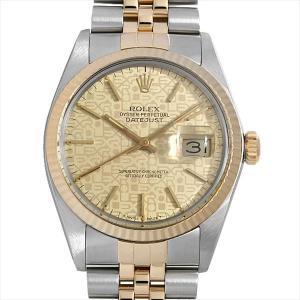 48回払いまで無金利 ロレックス デイトジャスト 16013 シャンパンプリントコンピューター/バー 88番  中古 メンズ 腕時計|ginzarasin