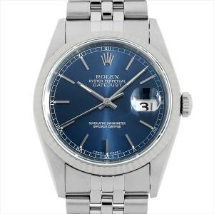 48回払いまで無金利 ロレックス デイトジャスト 16234 ブルー/バー K番 中古 メンズ 腕時計|ginzarasin