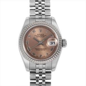 48回払いまで無金利 ロレックス デイトジャスト 179174 ピンク/ローマ M番 中古 レディース 腕時計|ginzarasin