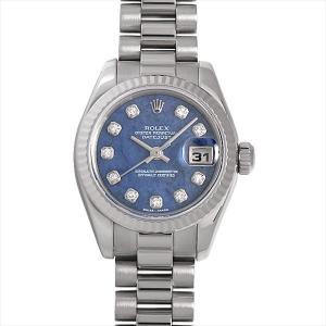 48回払いまで無金利 ロレックス デイトジャスト 10Pダイヤ 179179G SODA ソーダライト K番 中古 レディース 腕時計|ginzarasin