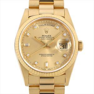 48回払いまで無金利 ロレックス デイデイト 10Pダイヤ 18238A シャンパン W番 中古 メンズ 腕時計|ginzarasin