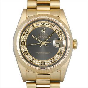 48回払いまで無金利 ロレックス デイデイト ミリヤードダイヤ 18238MA グレー/ミリヤードダイヤ/アラビア E番 中古 メンズ 腕時計|ginzarasin