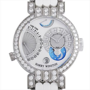 最大2万円OFFクーポン配布 ハリーウィンストン プルミエール エキセンター タイムゾーン 200MMTZ39WW1 中古 メンズ 腕時計 48回払いまで無金利|ginzarasin