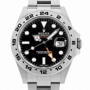 48回払いまで無金利 ロレックス エクスプローラーII 216570 ブラック ランダムシリアル 中古 メンズ 腕時計|ginzarasin
