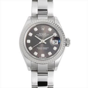 48回払いまで無金利 ロレックス デイトジャスト 279174G ダークグレー 中古 レディース 腕時計|ginzarasin