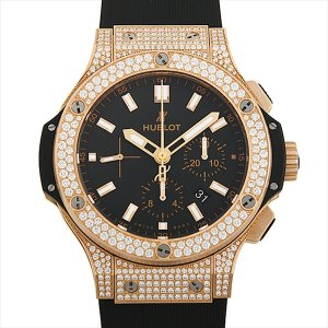 ウブロ ビッグバン ゴールド パヴェ レボリューション 301.PX.1180.RX.1704 中古 メンズ 腕時計|ginzarasin