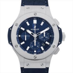 SALE 48回払いまで無金利 ウブロ ビッグバン スティール ブルー 301.SX.7170.LR 中古 メンズ 腕時計 ginzarasin