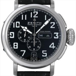 ゼニス ゼニス パイロット アエロネフ タイプ20 アニュアルカレンダー 03.2430.4054/21.C721 中古 メンズ 腕時計|ginzarasin
