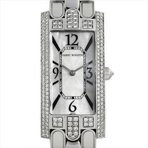 48回払いまで無金利 ハリーウィンストン アヴェニューC ベゼルダイヤ 330/LQWW.M/D3.2 中古 レディース 腕時計|ginzarasin