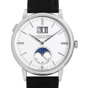 48回払いまで無金利 ランゲ&ゾーネ サクソニア ムーンフェイズ 384.026(LS3843AJ) 中古 メンズ 腕時計|ginzarasin