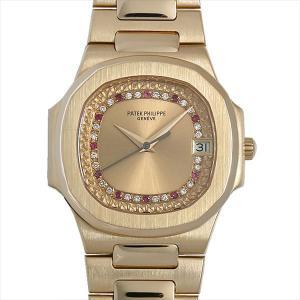 48回払いまで無金利 パテックフィリップ ノーチラス 3900/101J 中古 レディース 腕時計|ginzarasin