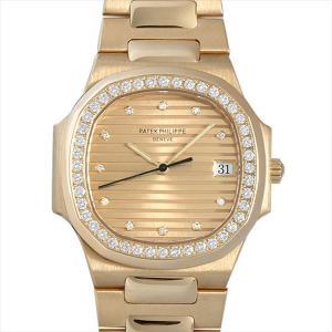 パテックフィリップ ノーチラス ベゼルダイヤ 3900/3J 中古 レディース 腕時計|ginzarasin