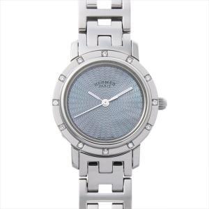 SALE 最大5万円オフクーポン配布 エルメス クリッパー ナクレ 12Pダイヤ CL4.230 中古 レディース 腕時計 48回払いまで無金利|ginzarasin